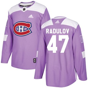 Youth Adidas Montreal Canadiens Alexander Radulov Purple Fights Cancer Practice Jersey - Authentic