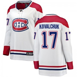 Women's Fanatics Branded Montreal Canadiens Ilya Kovalchuk White Away Jersey - Breakaway