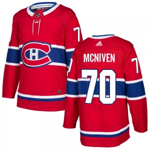 Men's Adidas Montreal Canadiens Michael McNiven Red Home Jersey - Authentic
