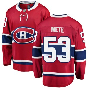 Youth Fanatics Branded Montreal Canadiens Victor Mete Red Home Jersey - Breakaway