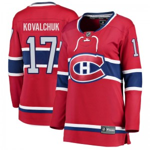 Women's Fanatics Branded Montreal Canadiens Ilya Kovalchuk Red Home Jersey - Breakaway