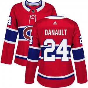 Women's Adidas Montreal Canadiens Phillip Danault Red Home Jersey - Authentic