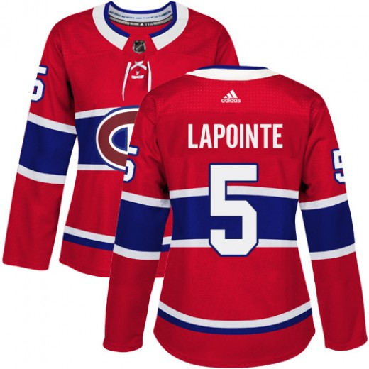 Women's Adidas Montreal Canadiens Guy Lapointe Red Home Jersey - Authentic